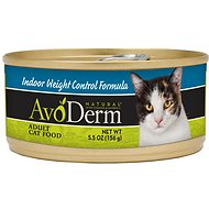 AvoDerm Natural Indoor Weight Control Formula Adult Canned Cat Food, 5.5-oz, case of 24