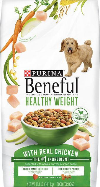 Purina beneful healthy weight with real chicken dry dog for Purina tropical fish food