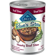 Blue Buffalo Blue's Hearty Beef Stew Grain Free Canned Dog Food, 12.5-oz, case of 12