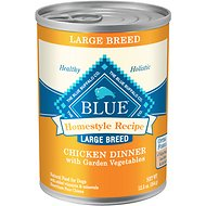 Blue Buffalo Homestyle Recipe Large Breed Chicken Dinner with Garden Vegetables Canned Dog Food, 12.5-oz, case of 12