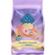 Blue Buffalo Healthy Growth Kitten Chicken & Brown Rice Recipe Dry Cat Food, 7-lb bag