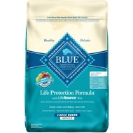 Blue Buffalo Life Protection Formula Large Breed Adult Fish & Oatmeal Recipe Dry Dog Food, 30-lb bag
