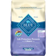 Blue Buffalo Life Protection Formula Small Breed Adult Fish & Brown Rice Recipe Dry Dog Food, 15-lb bag