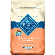 Blue Buffalo Life Protection Formula Large Breed Puppy Chicken & Brown Rice Recipe Dry Dog Food, 30-lb bag