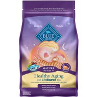 Blue Buffalo Healthy Aging Chicken & Brown Rice Recipe Mature Dry Cat Food, 7-lb bag