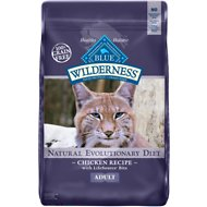 Blue Buffalo Wilderness Chicken Recipe Grain-Free Dry Cat Food, 12-lb bag