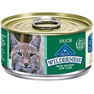 Blue Buffalo Wilderness Duck Grain-Free Canned Cat Food, 3-oz, case of 24