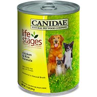 CANIDAE Life Stages Chicken & Rice Formula Canned Dog Food, 13-oz, case of 12