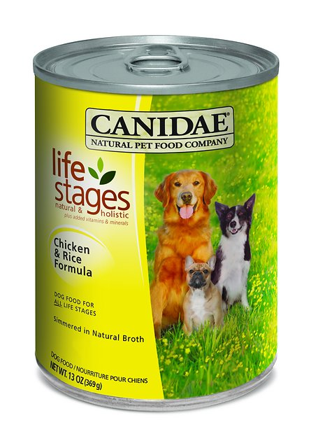 CANIDAE Life Stages Chicken & Rice Formula Canned Dog Food, 13-oz, case of 12 - Chewy.com