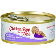 Chicken Soup for the Soul Weight & Mature Care Canned Cat Food, 5.5-oz, case of 24