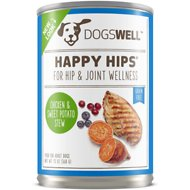 Dogswell Happy Hips Chicken & Sweet Potato Stew Recipe Canned Dog Food, 13-oz, case of 12