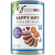 Dogswell Happy Hips Duck & Sweet Potato Stew Recipe Canned Dog Food, 13-oz, case of 12