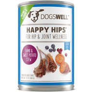 Dogswell Happy Hips Lamb & Sweet Potato Stew Recipe Canned Dog Food, 13-oz, case of 12
