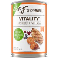 Dogswell Vitality Chicken & Sweet Potato Stew Recipe Grain-Free Canned Dog Food, 13-oz, case of 12