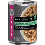 Eukanuba Adult Hearty Stew with Beef & Vegetables in Gravy Canned Dog Food, 12.3-oz, case of 12