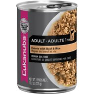 Eukanuba Adult Entree with Beef & Rice Canned Dog Food, 13.2-oz, case of 12