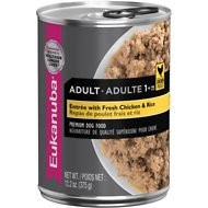 Eukanuba Adult Entree with Fresh Chicken & Rice Canned Dog Food, 13.2-oz, case of 12
