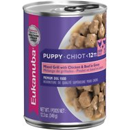 Eukanuba Puppy Mixed Grill with Chicken & Beef in Gravy Canned Dog Food, 12.3-oz, case of 12