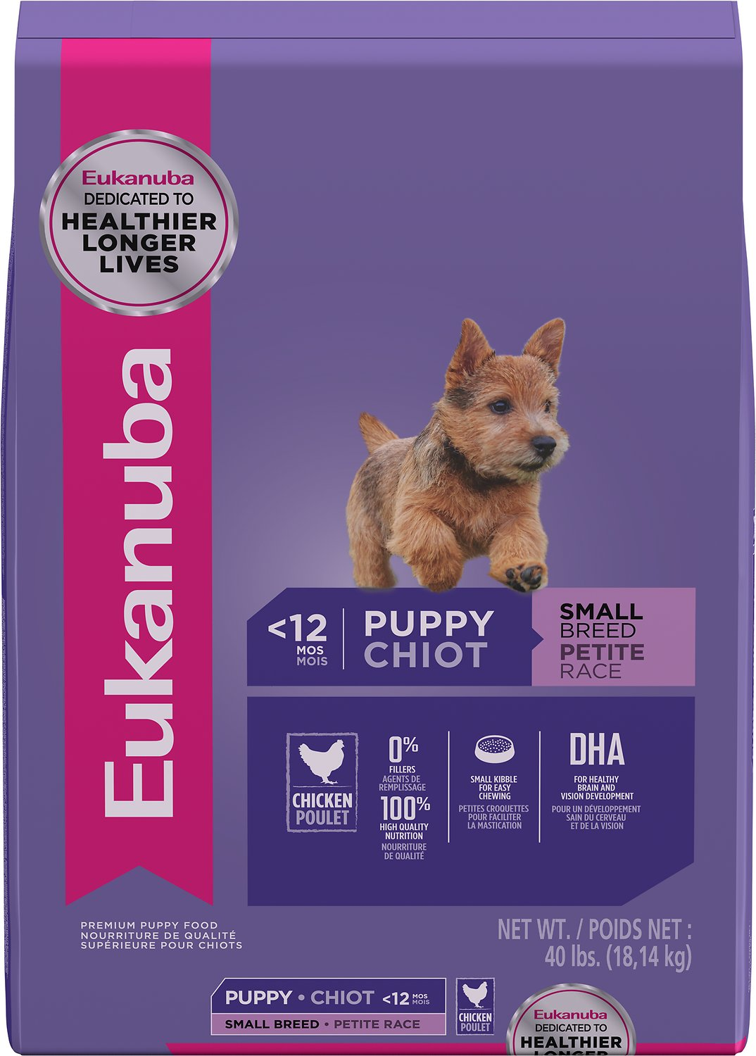 Eukanuba Small Breed Puppy Dry Dog Food 40 Lb Bag Chewy Com