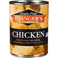Evanger's Grain-Free Chicken Canned Dog & Cat Food, 13-oz, case of 12