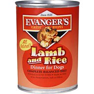 Evanger's Classic Recipes Lamb & Rice Dinner Canned Dog Food, 12.8-oz, case of 12