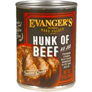 Evanger's Grain-Free Hand Packed Hunk of Beef Canned Dog Food, 12-oz, case of 12