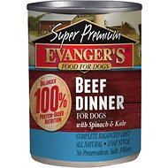 Evanger's Super Premium Beef Dinner Grain-Free Canned Dog Food, 13.2-oz, case of 12