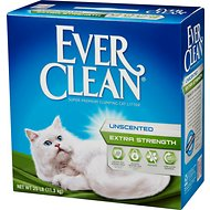 Ever Clean Extra Strength Unscented Premium Clumping Clay Cat Litter, 25-lb box
