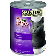 CANIDAE Life Stages Indoor Formula Canned Cat Food, 13-oz, case of 12