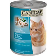 CANIDAE Life Stages Chicken & Rice Formula Canned Cat Food, 13-oz, case of 12