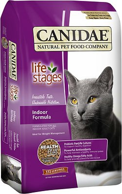 5. CANIDAE Life Stages Formula for Indoor Adult Cats