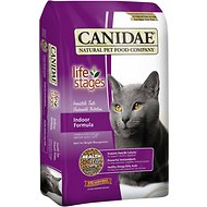CANIDAE Life Stages Indoor Formula Adult Dry Cat Food, 15-lb bag