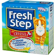 Fresh Step Plus Dual Action Crystals Cat Litter, 25-lb box