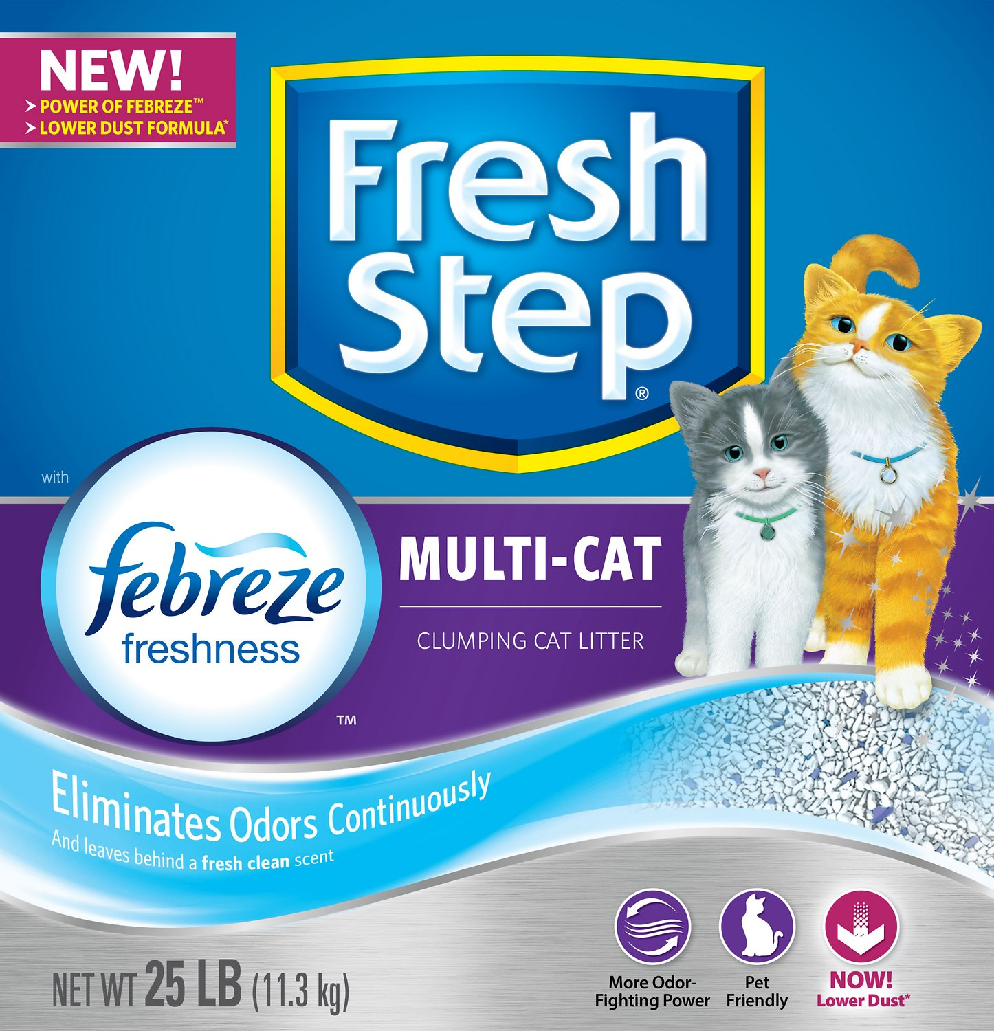 image cat litter. Interesting Image Fresh Step Multiple Cat Scoopable Clumping Litter 25lb Box  Chewycom With Image Litter I
