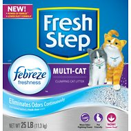 Fresh Step Multiple Cat Scoopable Clumping Cat Litter, 25-lb box