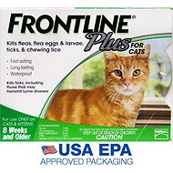 Frontline Plus Flea & Tick Treatment for Cats & Kittens, 6 treatments