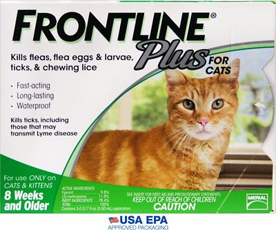 Frontline Plus Flea & Tick Treatment for Cats & Kittens, 6 treatments - Chewy.com