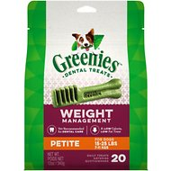 Greenies Weight Management Petite Dental Dog Treats, 20 count