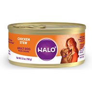 Halo Spot's Stew Wholesome Chicken Recipe Canned Dog Food, 5.5-oz, case of 12