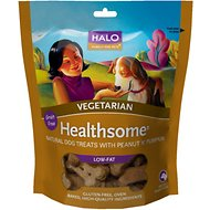 Halo Healthsome Vegetarian Biscuits with Peanut 'n Pumpkin Grain-Free Dog Treats, 8-oz