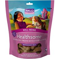 Halo Healthsome Well-Being Chicken & Cheese Flavor Grain-Free Dog Treats, 6-oz