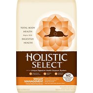 Holistic Select Weight Management Chicken Meal & Peas Recipe Dry Dog Food, 14-lb bag