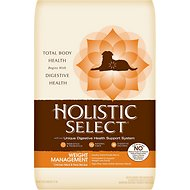 Holistic Select Weight Management Chicken Meal & Peas Recipe Dry Dog Food, 28-lb bag