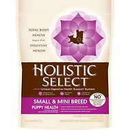 Holistic Select Small & Mini Breed Puppy Health Anchovy, Sardine & Chicken Meals Recipe Dry Dog Food, 6-lb bag
