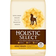 Holistic Select Adult Health Duck Meal Recipe Dry Dog Food, 30-lb bag