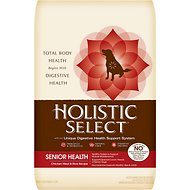 Holistic Select Senior Health Chicken Meal & Rice Recipe Dry Dog Food, 30-lb bag