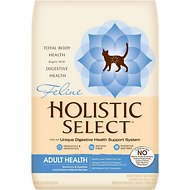 Holistic Select Adult Health Anchovy, Sardine & Salmon Meals Recipe Dry Cat Food, 12-lb bag