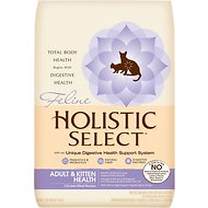 Holistic Select Adult & Kitten Health Chicken Meal Recipe Dry Cat Food, 12-lb bag