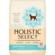Holistic Select Adult Health Duck Meal Recipe Dry Cat Food, 12-lb bag