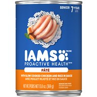 Iams Proactive Health Senior With Slow Cooked Chicken & Rice Canned Dog Food, 13-oz, case of 12